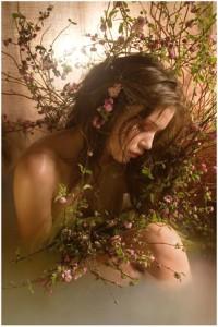 belle image femme branches